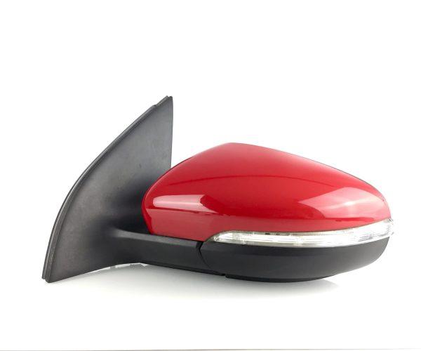 Golf 6 1K (2008-2012) Außenspiegel links elektrisch verstellbar mit Einstiegsleuchte Rot LY3D 9Pin 5K0857933B